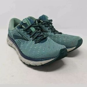 Brooks Womens Glycerin 17 Running Shoes Green 10